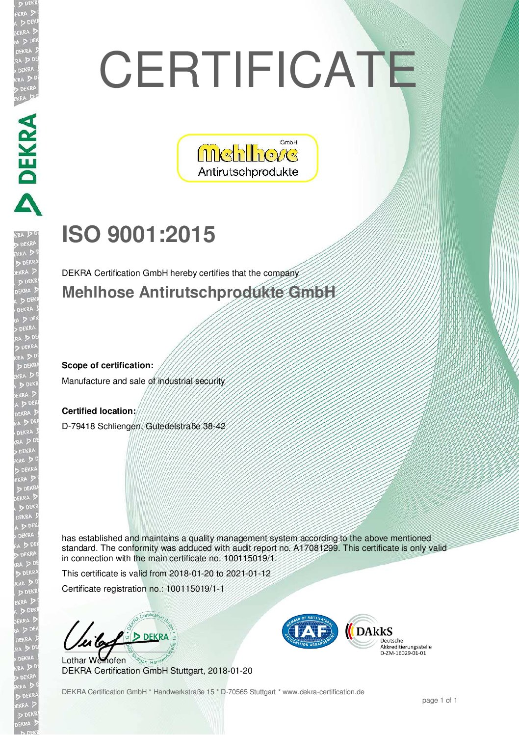 Successful upgrade to the new iso 90012018 standard mehlhose successful upgrade to the new iso 90012018 standard 1betcityfo Gallery